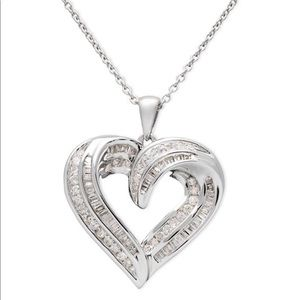 Jewelry - Diamond Heart Necklace Sterling Silver (1/2 ct.)